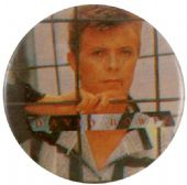 David Bowie - 'David Behind Bars' Button Badge
